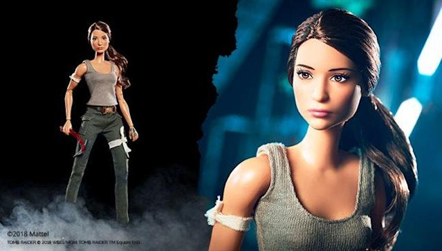 Meet Tomb Raider Barbie. (Photo: Mattel)