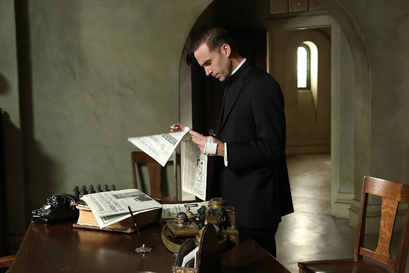 "Joseph Fiennes as Monsignor Timothy Howard in the ""American Horror Story: Asylum"" episode, ""Spilt Milk."""