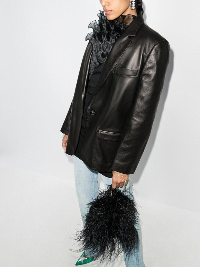 The Attico single breasted leather jacket, £1,305, BrownsFashion.co.uk