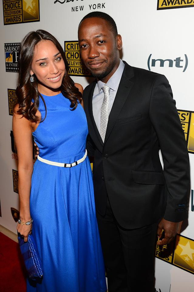 LOS ANGELES, CA - JUNE 10: Actress Korinna Rico and actor Lamorne Morris (R) and arrive at Broadcast Television Journalists Association's third annual Critics' Choice Television Awards at The Beverly Hilton Hotel on June 10, 2013 in Los Angeles, California. (Photo by Mark Davis/Getty Images for CCTA)