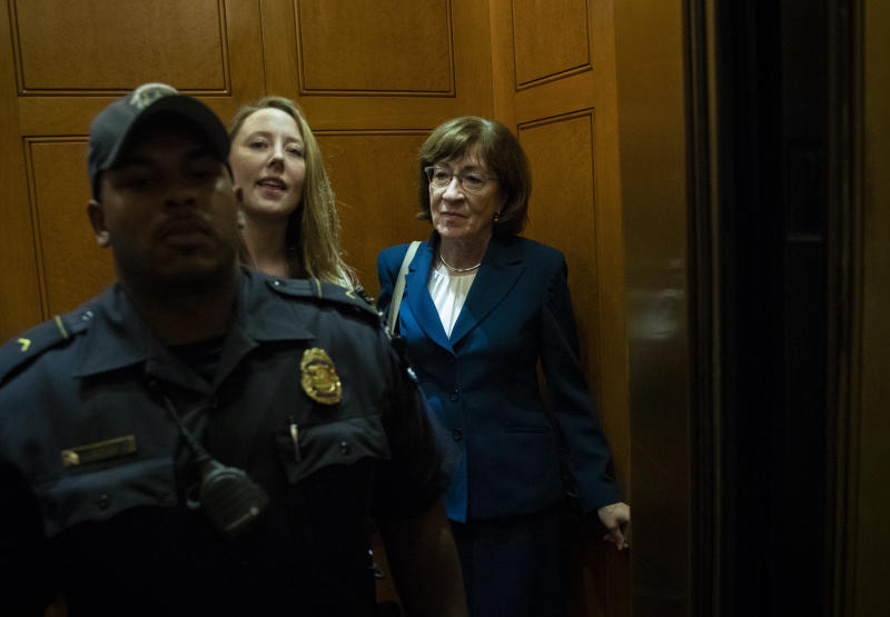 Opponents of Brett Kavanaugh are pouring money into a fund to defeat Sen. Susan Collins in 2020.