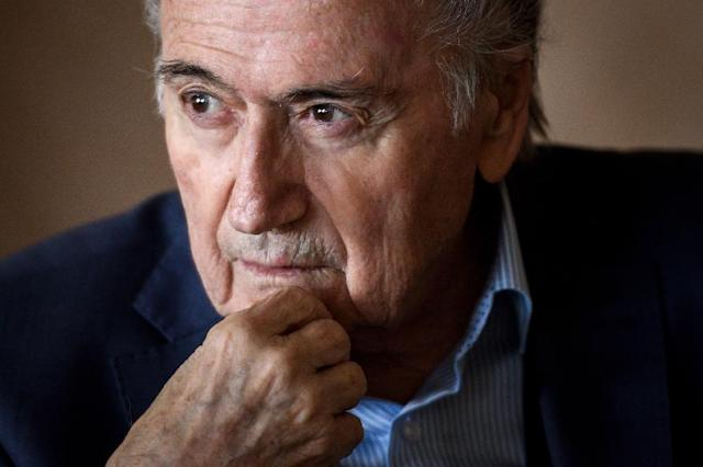 Former FIFA president Sepp Blatter is a long-time rival of Gianni Infantino (AFP Photo/Fabrice COFFRINI)