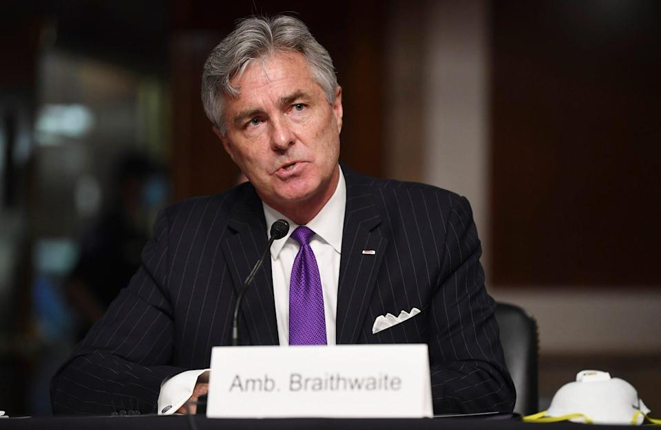 Kenneth Braithwaite, served as 77th secretary of the Navy from May 29, 2020 to January 20, 2021.