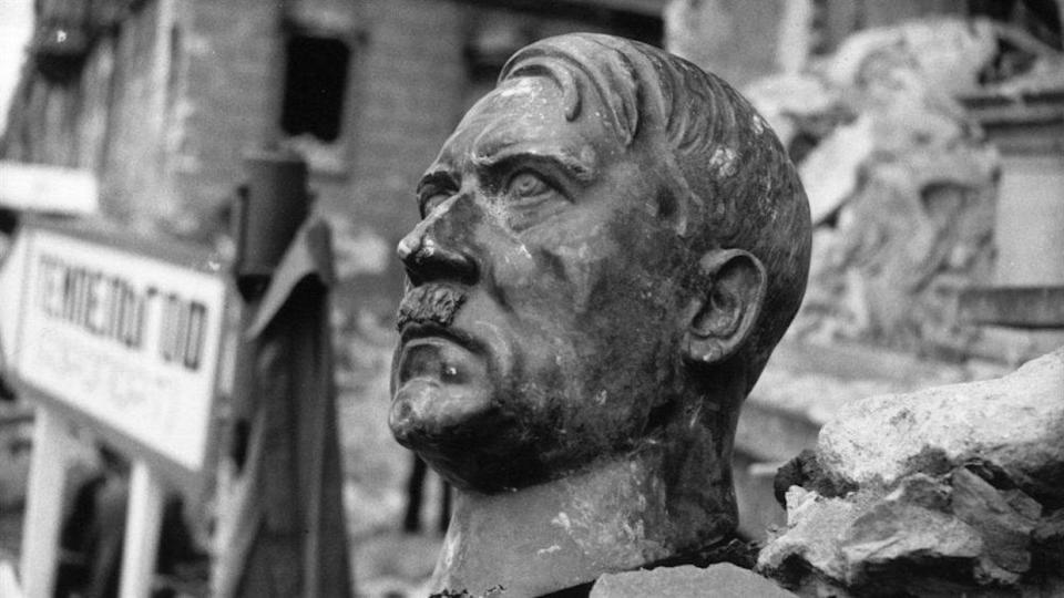 A bust of Hitler in 'The Meaning of Hitler'