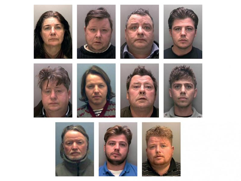 The 11 defendants were jailed for a total of 79 years (Lincolnshire Police)