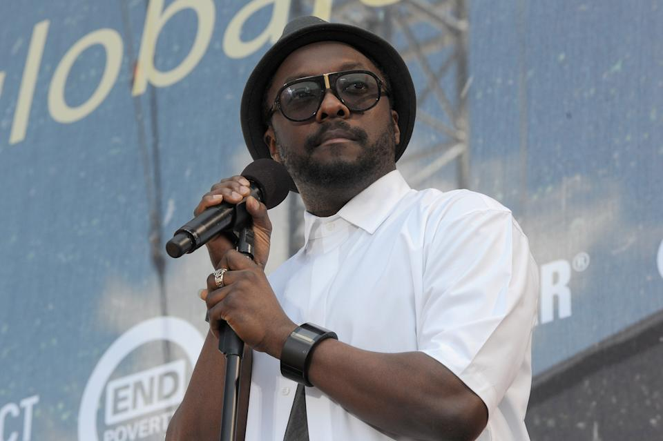 WASHINGTON, DC - APRIL 18:  Rapper Will i Am speaks onstage during Global Citizen 2015 Earth Day on National Mall to end extreme poverty and solve climate change on April 18, 2015 in Washington, DC.  (Photo by Richard Chapin Downs Jr./Getty Images for Global Citizen)