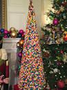 <p>A 7-foot-tall tree made from nearly 4,000 gum balls stands in the State Dining room. <i>(Photo: Cassie Carothers)</i></p>
