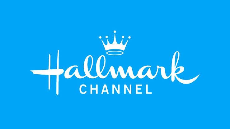 The Hallmark Channel logo on a blue background.