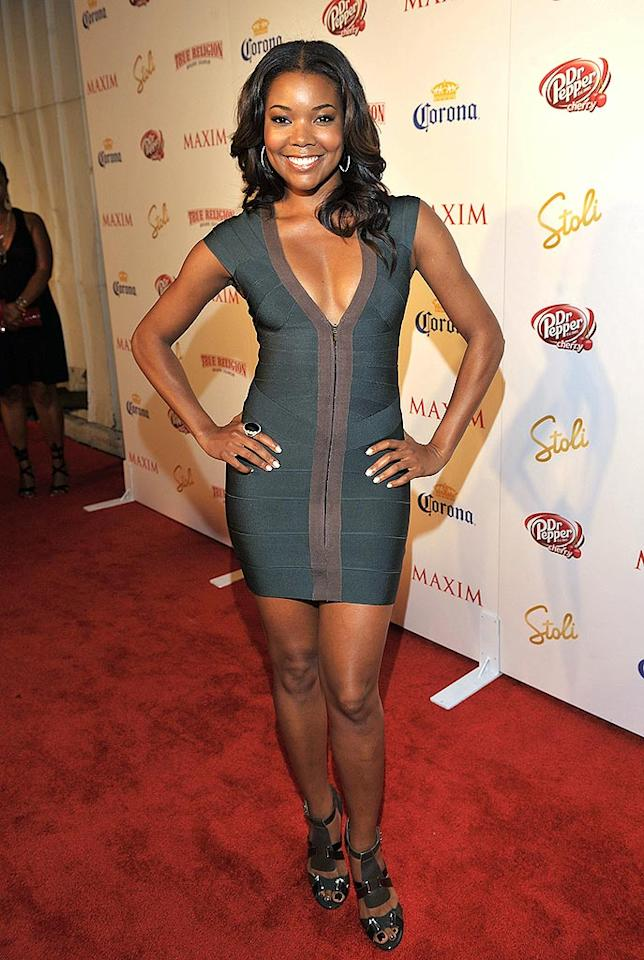 "Gabrielle Union slinked her way down the red carpet in a Herve Leger dress. The actress came in at no. 71. Lester Cohen/<a href=""http://www.wireimage.com"" target=""new"">WireImage.com</a> - May 13, 2009"