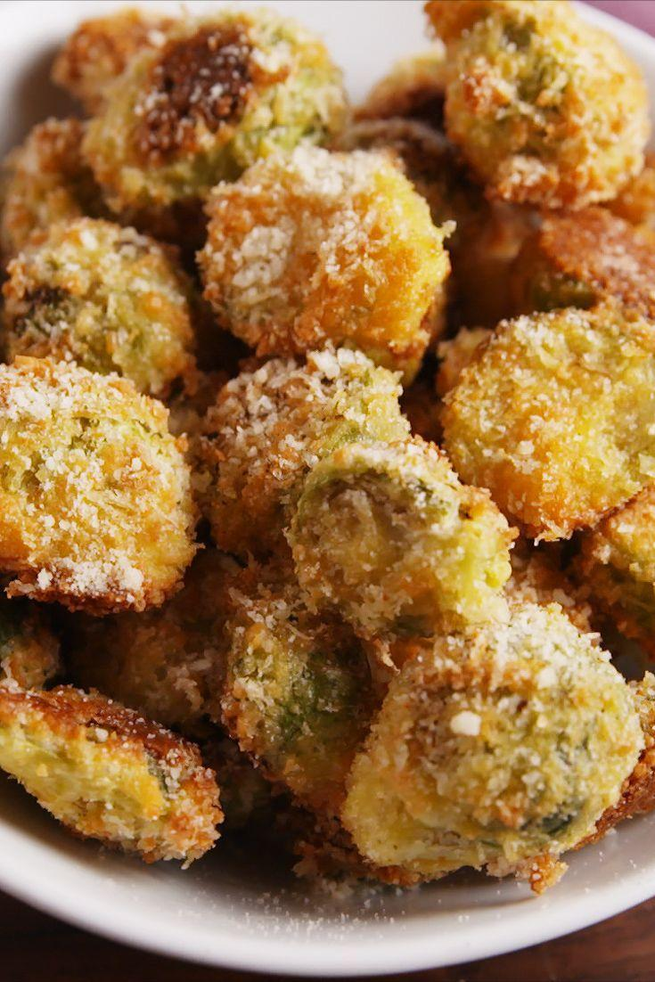 """<p>Parmesan crusts make everything drool worthy.</p><p>Get the recipe from <a href=""""https://www.delish.com/cooking/recipe-ideas/recipes/a55370/parmesan-crusted-brussels-sprouts-recipe/"""" rel=""""nofollow noopener"""" target=""""_blank"""" data-ylk=""""slk:Delish"""" class=""""link rapid-noclick-resp"""">Delish</a>.</p>"""