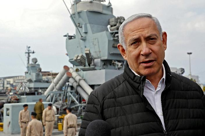 """A Jerusalem Post report quoted Israeli Prime Minister Benjamin Netanyahu as saying that """"Poles cooperated with the Germans"""" in the Holocaust (AFP Photo/JACK GUEZ)"""