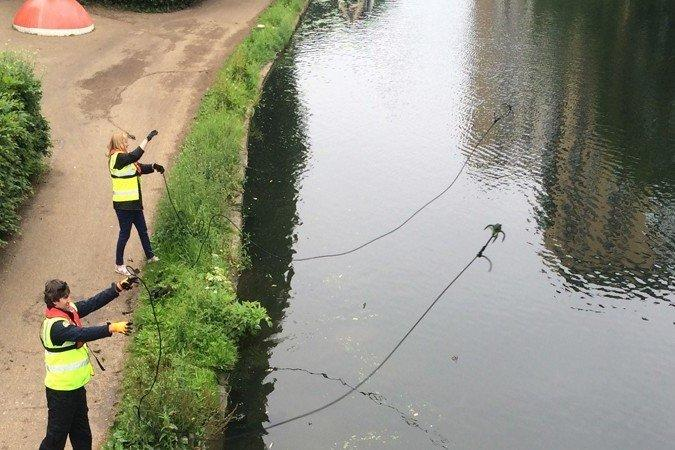 The Canal and River Trust say that volunteers are helping keep the waters clean: Canal & River Trust