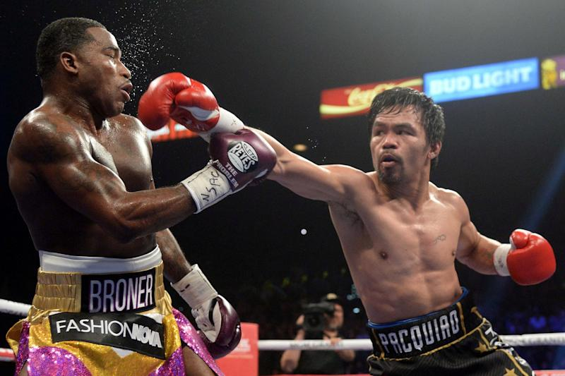 Pacquiao impressively beat Broner in January Photo: USA TODAY Sports