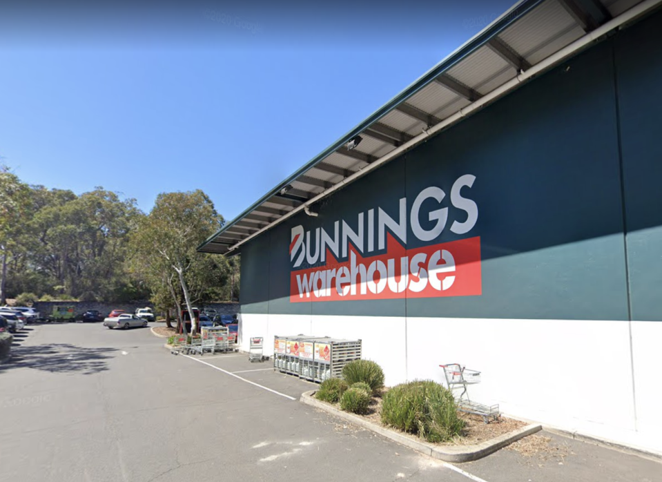 Bunnings Warehouse at Belrose is pictured.