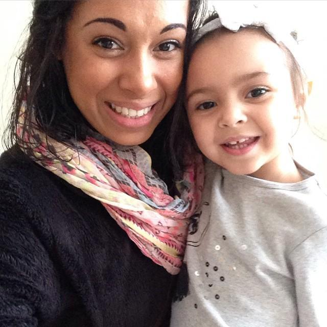 Audrey Nicole with her daughter, Riley Grace (Picture: Audrey Nicole/Facebook)