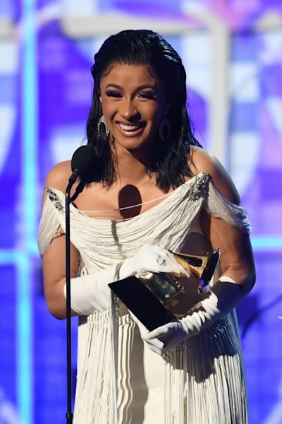 """Cardi B made history by becoming the first woman to win the Best Rap Album Grammy for """"Invasion of Privacy"""""""