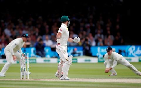 <span>Rory Burns catches Matthew Wade</span> <span>Credit: Action Images via Reuters/Paul Childs </span>