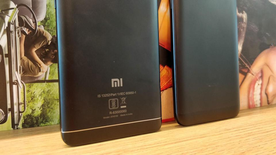 The Redmi Note 4(left) comes with a 4,100mAh battery, while the Redmi Note 5(right) has 100mAh lesser battery juice.