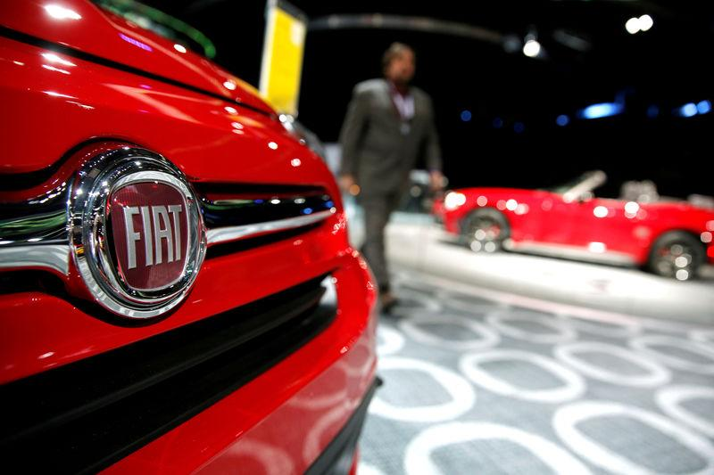 FILE PHOTO: A Fiat car on display at the North American International Auto Show in Detroit
