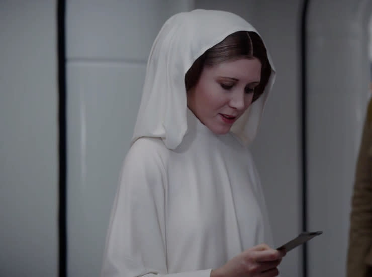 Leia in 'Rogue One' (Lucasfilm/ABC Nightline)