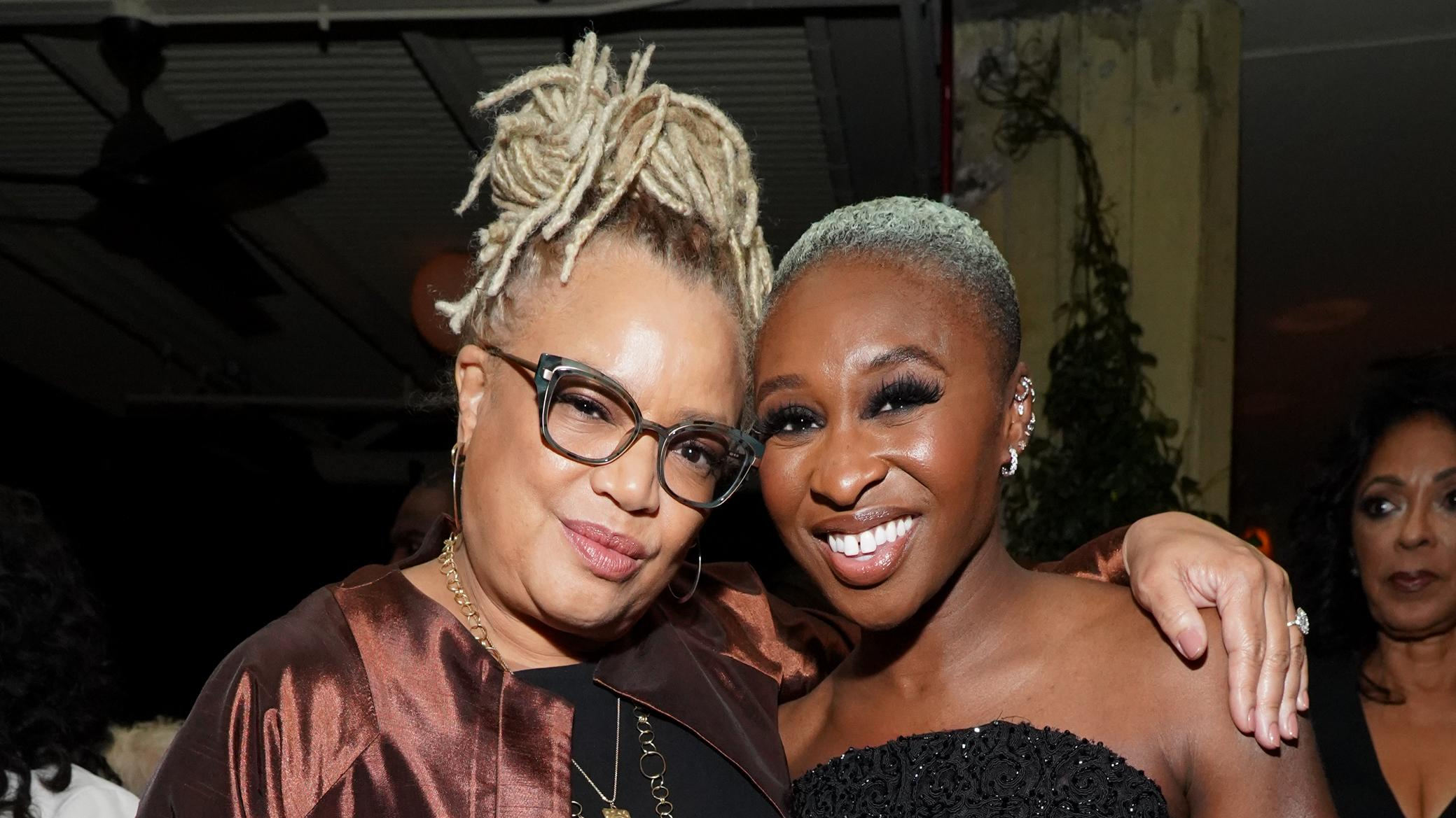 "Kasi Lemmons and Cynthia Erivo attend the after party of Focus Features' ""Harriet"" premiere. (Photo by Rachel Luna/Getty Images)"
