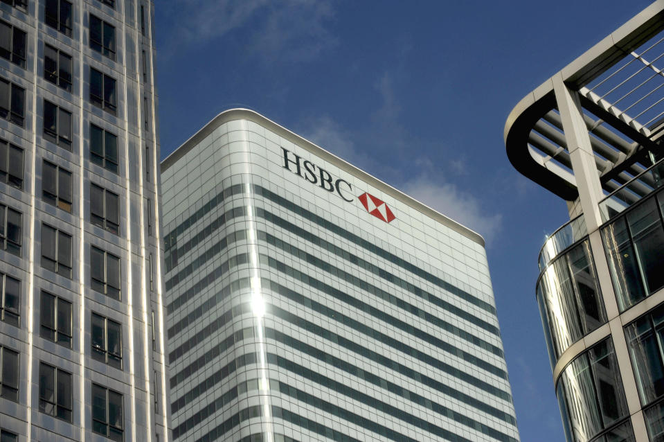 HSBC building in the financial district of Canary Wharf, London. Photo: Kieran Doherty/Reuters