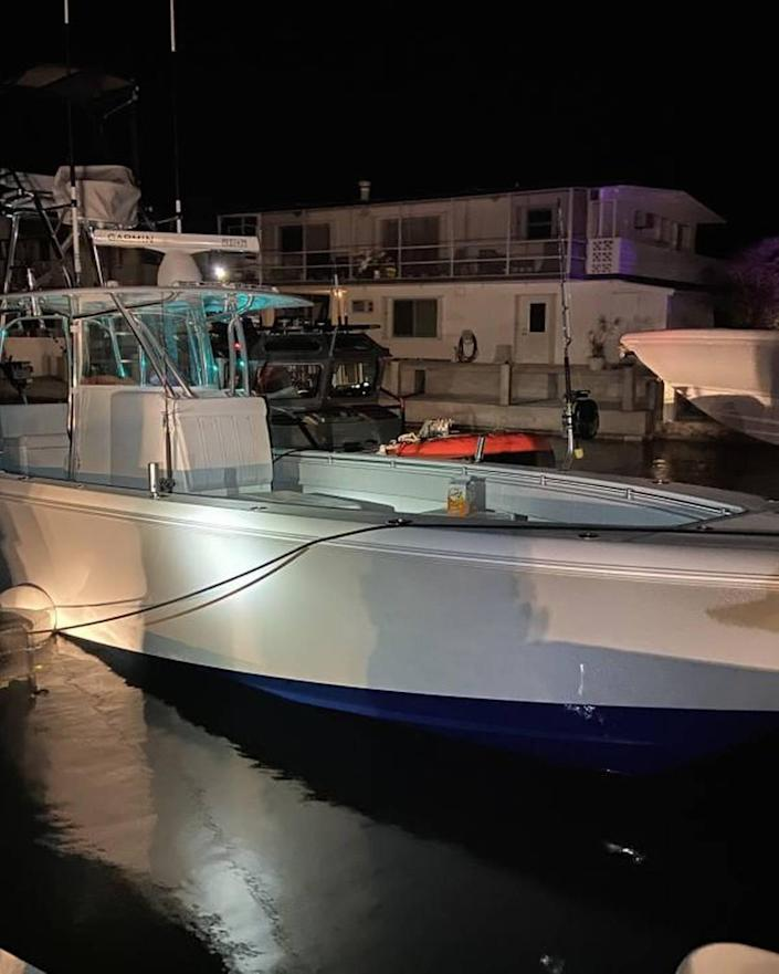 Danzig sold his boat, the Bodacious, to pay for a brand new 2021 30-foot Contender vessel that was given as restitution payment to the Bahamas.