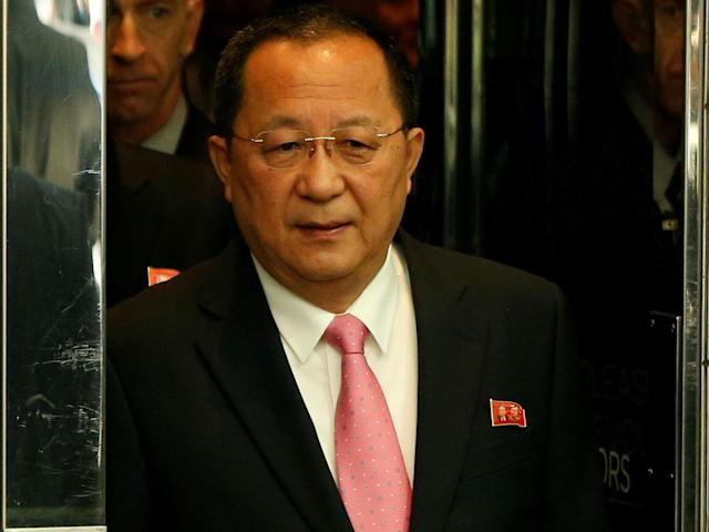 North Korean Foreign Minister Ri Yong-ho was in Sweden meeting with officials: REUTERS/Shannon Stapleton