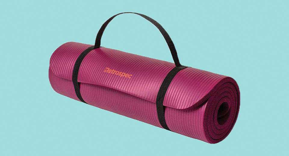 =Retrospec Solana Yoga Mat Thick w/ Nylon Strap. (Photo: Amazon)