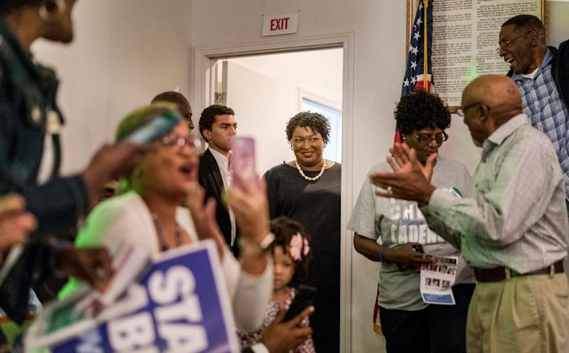 Former House Democratic Leader and Democratic nominee for Governor Stacey Abrams meets with Georgia voters in Metter, Monday November 5, 2018.