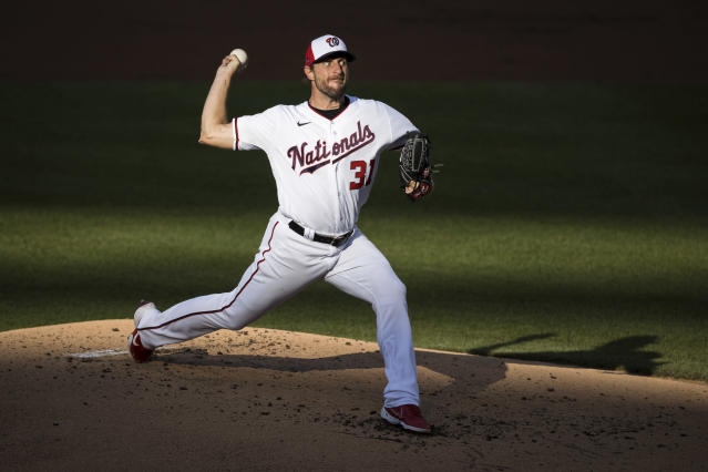 Nationals ace Max Scherzer could be in line for his fourth Cy Young award. (Photo by Scott Taetsch/Getty Images)