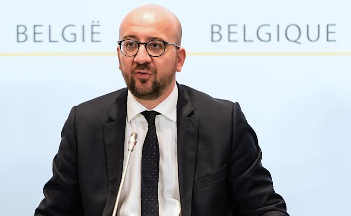 "Belgian Prime Minister Charles Michel, pictured November 22 2015 in Brussels, said the capital will remain on the highest alert November 23, as authorities monitor a ""serious and imminent"" security threat of Paris-style attacks (AFP Photo/Emmanuel Dunand)"