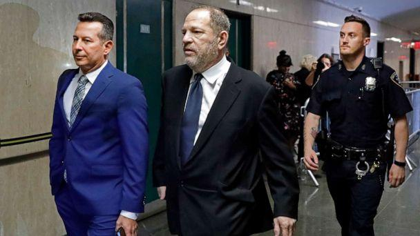 PHOTO: Harvey Weinstein returns from lunch to State Supreme Court, in New York, April 26, 2019. (Richard Drew/AP)