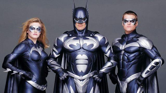 Alicia Silverstone, George Clooney, and Chris O'Donnell in 'Batman & Robin' (1997)