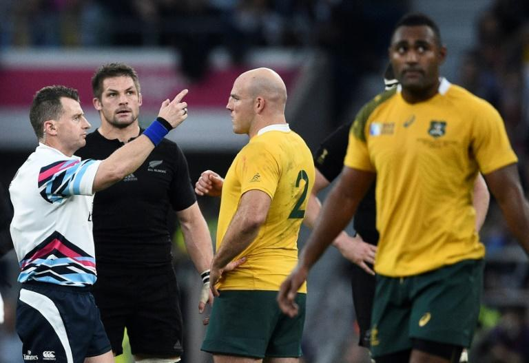 Nigel Owens referees the 2015 Rugby World Cup final