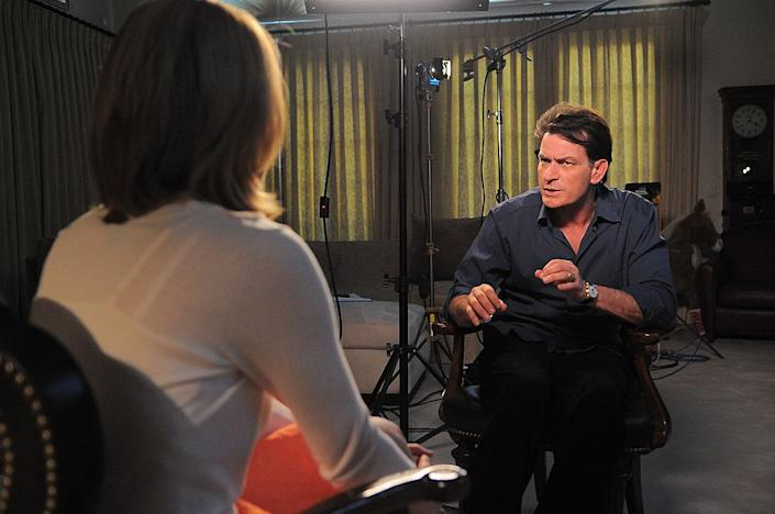 Charlie Sheen appears on