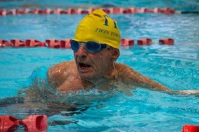Australia's George Corones, who celebrates his 100th birthday next month, has broken what is claimed to be the 50-metres long-course freestyle world record for his age group.