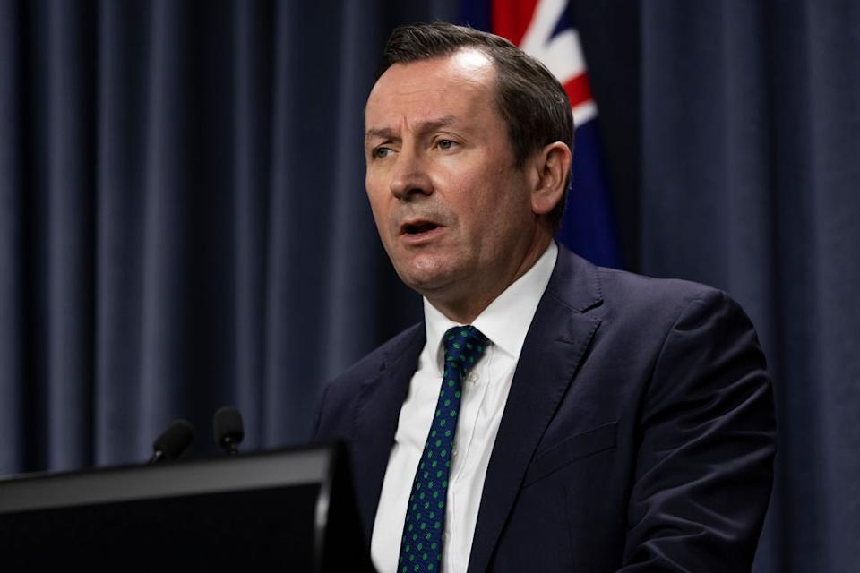 Premier Mark McGowan says he is taking no chances with the Delta variant. Source: Getty