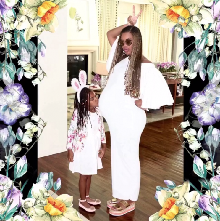 beyonce pregnant blue ivy easter