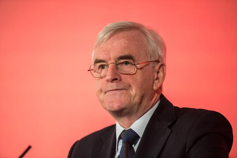 "Mr McDonnell said the Chancellor had ""finally shown his hand"" by singling out financial services in trade deal talks: Getty"