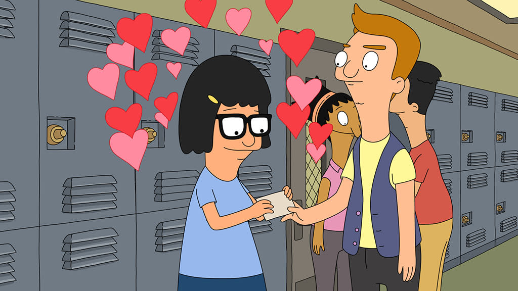 "Tina recalls a past Valentine's Day in the all-new ""My Fuzzy Valentine"" episode of ""Bob's Burgers"" airing Sunday, Feb. 10 (8:30-9:00 PM ET/PT) on FOX."