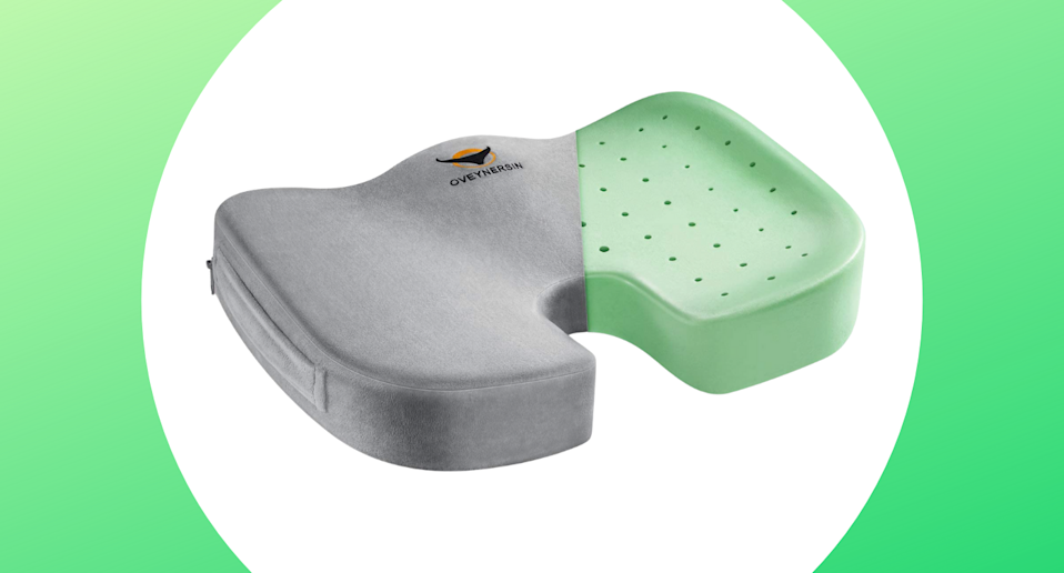'Makes my butt happy': Is this $25 seat cushion the cure to sitting back pain? (Photo via Amazon)