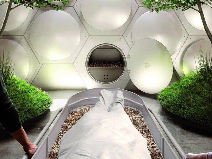 Bodies are placed in the pods (Olson Kundig)