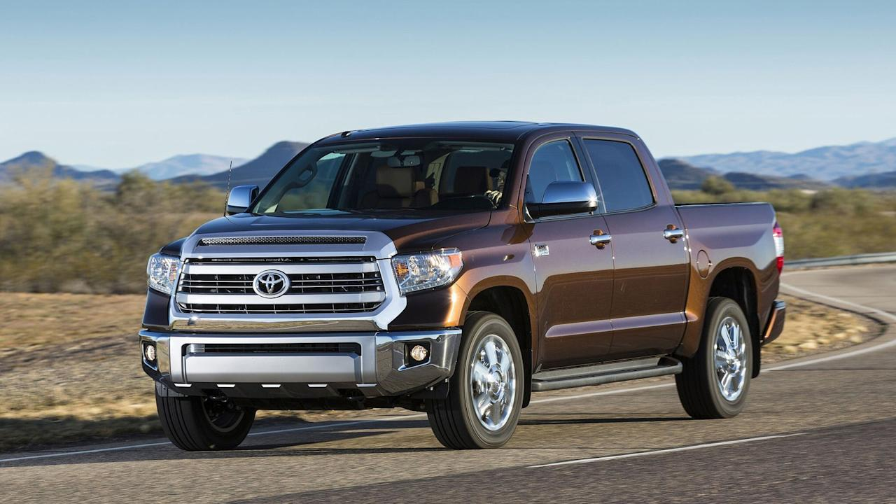 <p>The Toyota Tundra kicks off our list. According to iSeeCars.com, 3.9% of all Tundra owners get ride of their nearly new trucks in favor of something else. That exactly matches the overall average of all pickup trucks.</p>