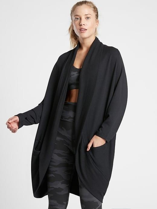 <p>This <span>Athleta Ethereal Cocoon Wrap</span> ($89) packs a ton of cozy even when you're just cuddling on the couch.</p>