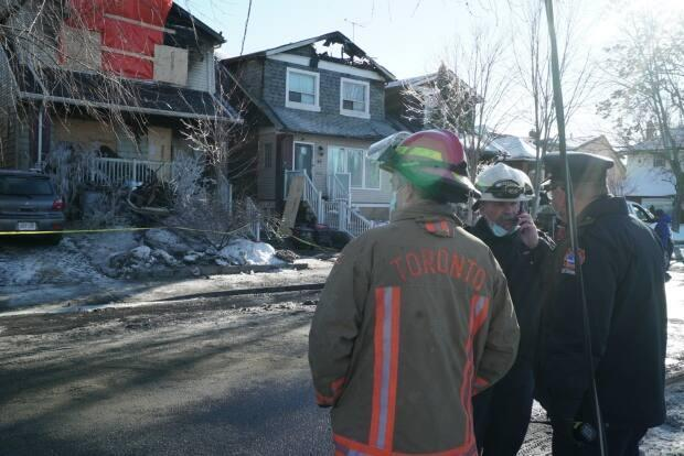 An investigation has determined that a fatal January fire at an east-end Toronto home was caused by an electrical failure in the dining room ceiling. (Robert Krbavac/CBC - image credit)