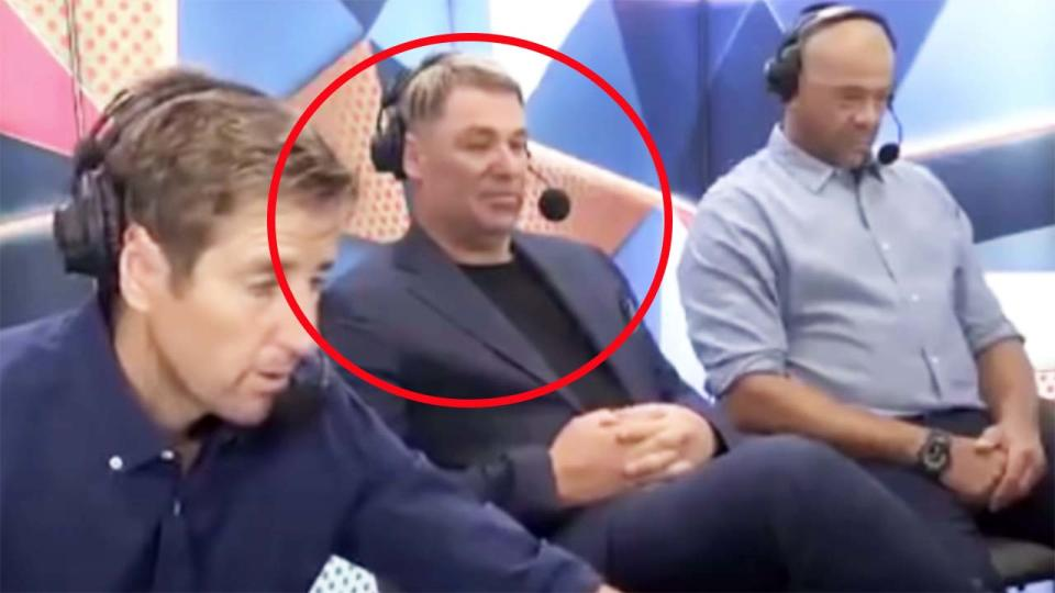 Shane Warne and Andrew Symonds, pictured here in commentary for Fox Sports.