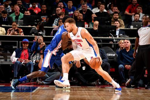 Griffin scores 50 points, Pistons top 76ers 133-132 in OT