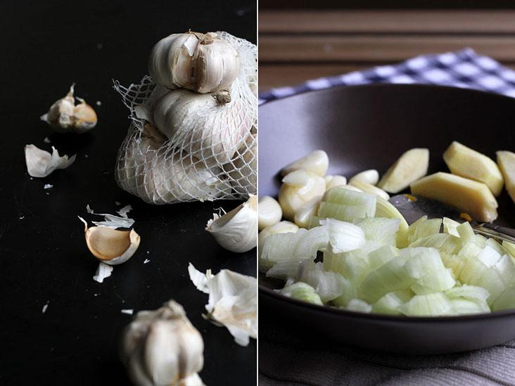 Base aromatics include garlic, onion and ginger