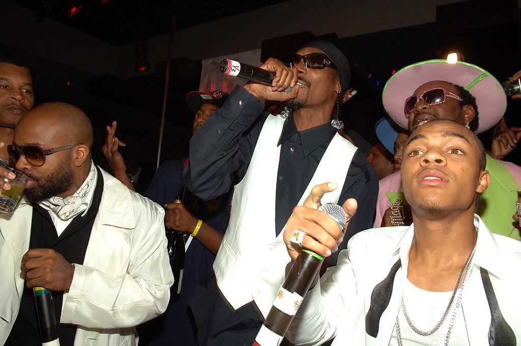 """Jermaine Dupri, Snoop Dogg, and Archbishop Don """"Magic"""" Juan, perform with Bow Wow, who, at 21, is """"Lil'"""" no more! Denise Truscello/<a href=""""http://www.wireimage.com"""" target=""""new"""">WireImage.com</a> - March 15, 2008"""